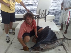 Laurent's catch - Sailfish 30 kilos