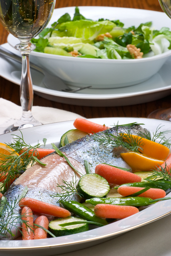 Trout with Veggies